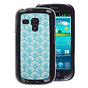 A-type Arte & diseño plástico duro Fundas Cover Cubre Hard Case Cover para Samsung Galaxy S3 MINI 8190 (NOT S3) (Pattern Baby Blue Colors Wallpaper)