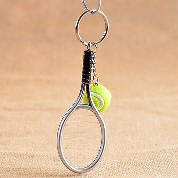 Ankin mini raqueta de tenis de metal hecho a mano recuerdo ...