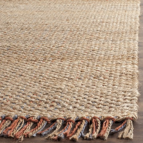 Safavieh Natural Fiber Collection NF455A Hand Woven Natural and Multi Jute Area Rug (2'6