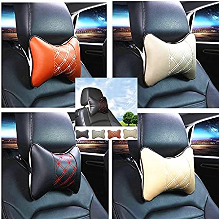 Sedeta/® Car Seat Pad appuie-t/ête en mousse /à m/émoire Oreiller Voyage Head Neck Rest Coussin de soutien oreillers de voiture pour les tout-petits oreiller de voiture retour oreiller voiture noir si/ège