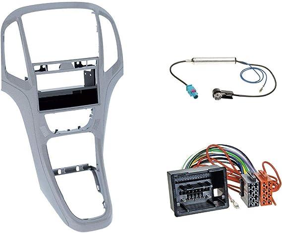 Pioneer Usb Aux in mp3 1din autoradio pour Opel Astra J à partir de 2009 Platine Argent