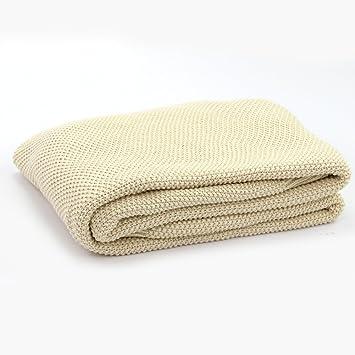 drcosy 100 coton couverture thermique tricot canap jet tricot couvre lit doux lit couverture - Couverture Lit