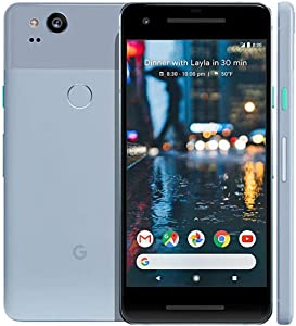 Google Pixel 2 GSM/CDMA Unlocked - US warranty (Kinda Blue, 64GB), 5 inch OLED Display, Fingerprint Scanner · Front Camera: 8 MP · Rear Camera: 12.2 MP · 4G LTE (Renewed)