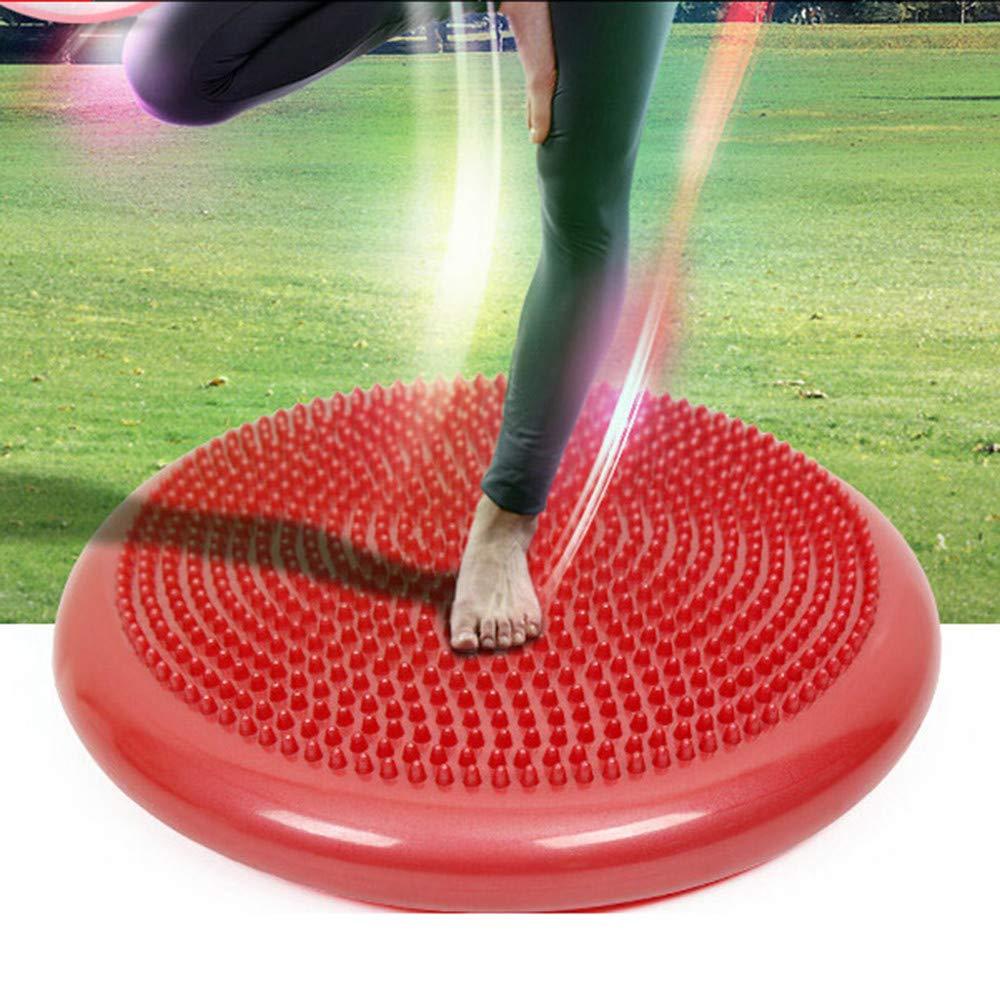 ugokarj Balanced Yoga Massage Plate Inflatable Massage Cushion Balance Plate Thick Explosion-proof Yoga Balance Ball Balance Trainer