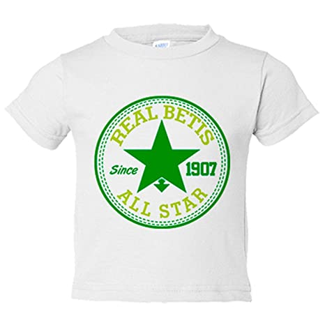 Precio pagable última tecnología estilo de moda Camiseta niño Betis All Star - Blanco, 3-4 años: Amazon.es: Bebé