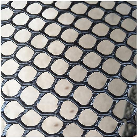 XXN Malla Plástica Negra,jardín Escaleras Niño Seguridad para Mascotas Cercas de Nieve Redes de Plástico Balcón Gato Perro Barrera Red Cría de Aves de Corral Malla de Alambre de Faisán Pared Temporal: