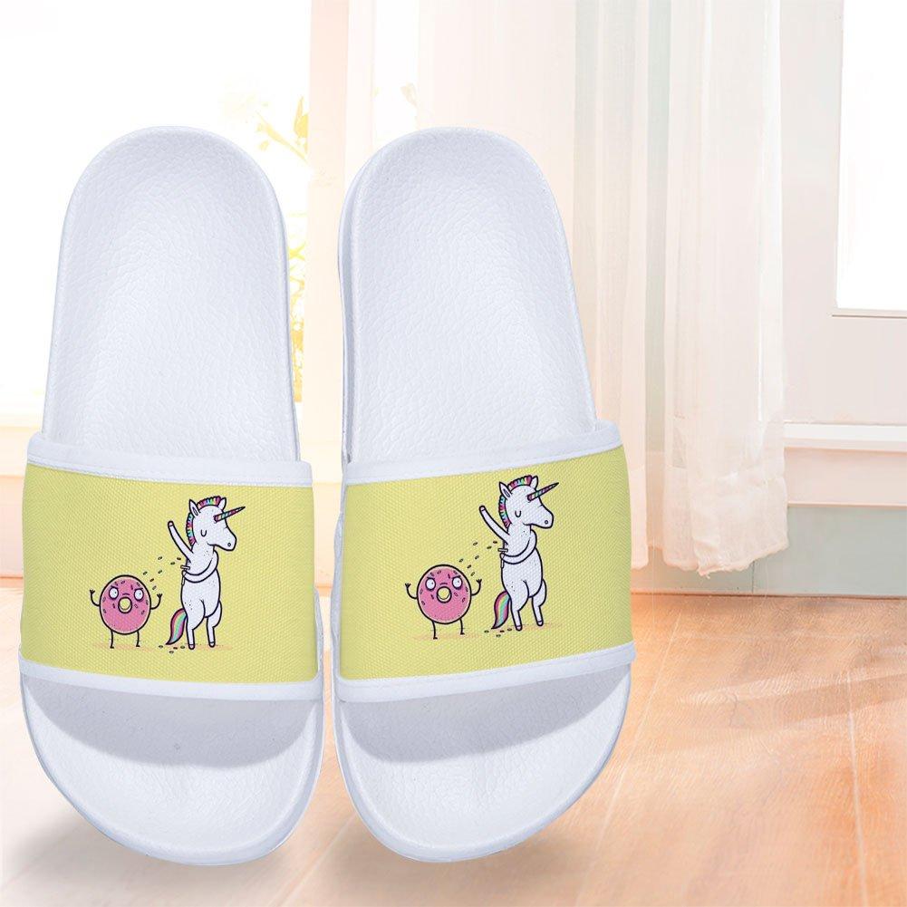 a336e62b84a1d Amazon.com: CoolBao Boys Girls Home Sandal Unicorn Quick Drying Non ...