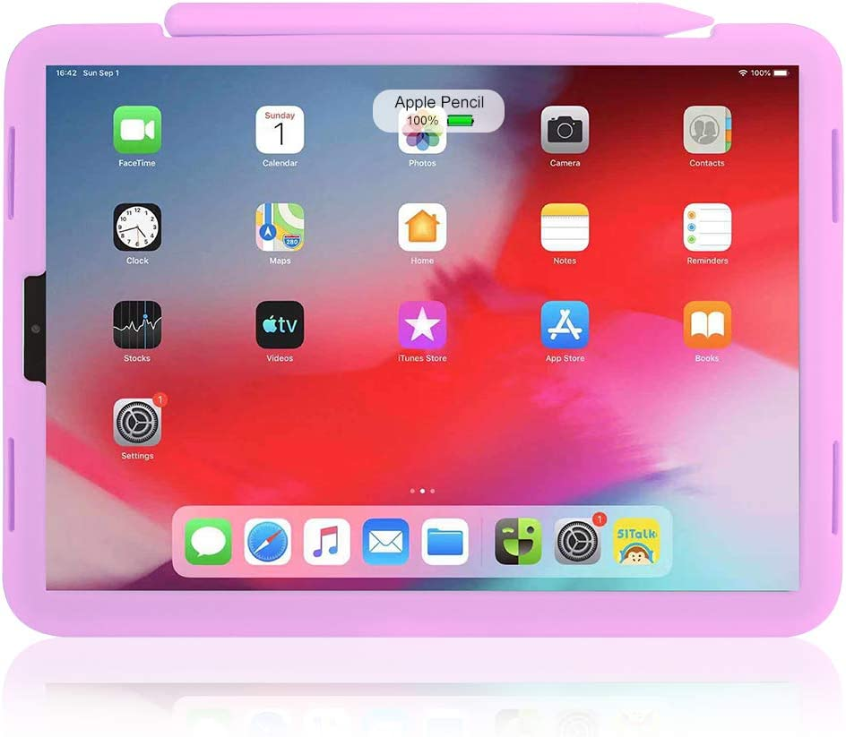 2nd Generation Compatible with Apple Pencil Fully Protection Silicone Case Sleeve Holder Grip Pink Nib Cover