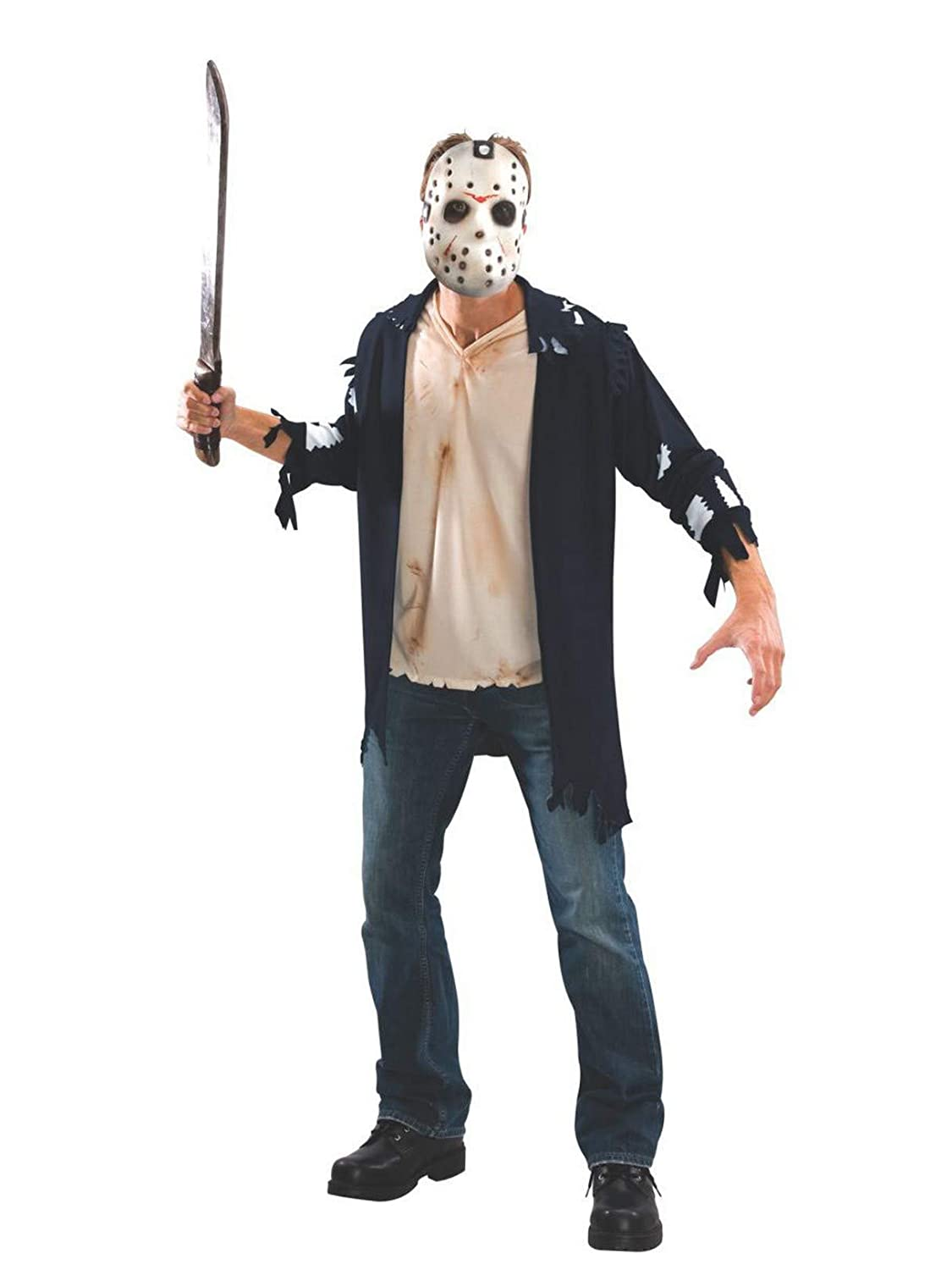 Amazon.com: Friday The 13th Jason Costume, talla única ...