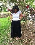 Mexican black maxi long skirt