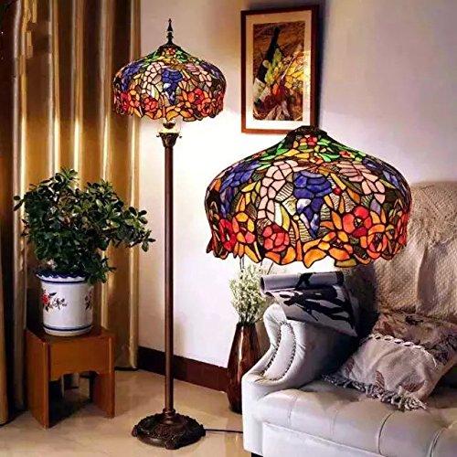 TOYM UK- European senior stained glass Tiffany lamps Cafe Retro living room floor lamp bedroom lamp - Tiffanys Uk