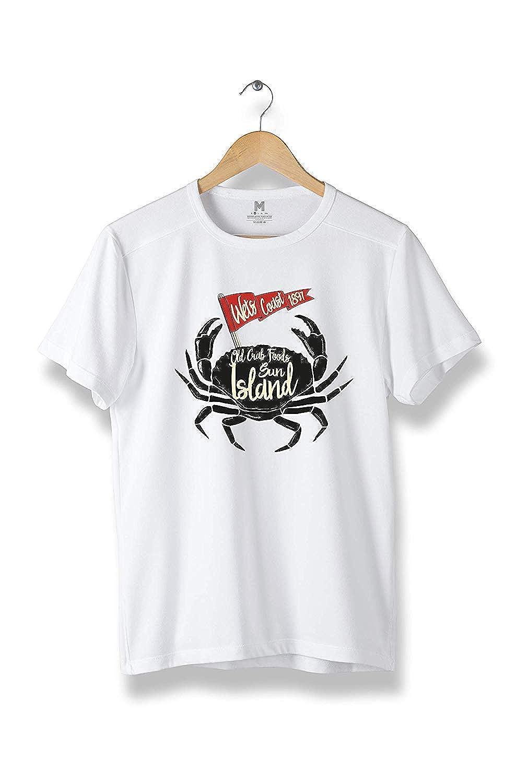 Old Crah Foods Sun Island T-Shirt R78 Modern Cool Tees for Men