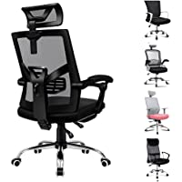 ALFORDSON Mesh Office Chair Executive Fabric Seat Racing Footrest Recline (Mesh Black)