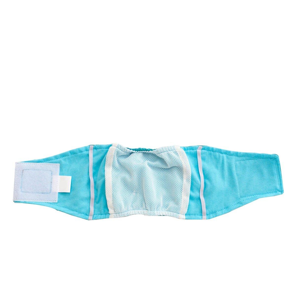 Couches pour chiens mâles UEETEK couches lavables culotte sanitaire chien - Taille XL (Vert)