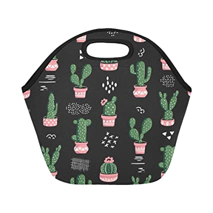 fbe02bb48142 InterestPrint Lunch Bags Cactus Lunch Bag Lunch Box Lunch Tote For Adult  Teens Men Women