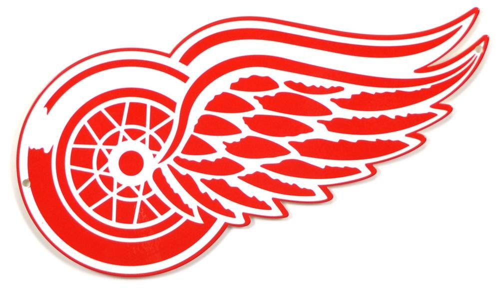 Authentic Street Signs NHL Hockey 12 Inch STEEL Lasercut College Team Sports Sign for Dorm Rooms, Man Caves, Garages (Detroit Redwings, Around 12 Inches)