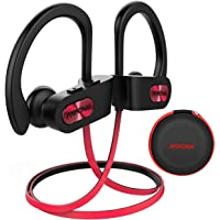 Cuffie Wireless IPX7, Mpow Flame Auricolari Bluetooth 4.1 Sport CVC 6.0, con Qualità Audio HD e Stabile, Cuffie Bluetooth Sport con Eva Borsa per iPhone(IOS), Android - Rosso