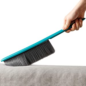 Soft Utility Cleaning Brush Counter Duster for Couch, Sofa, Table, Chair, Bed, Car, Cloth with Multicolor Handle and Soft Microfiber Bristles