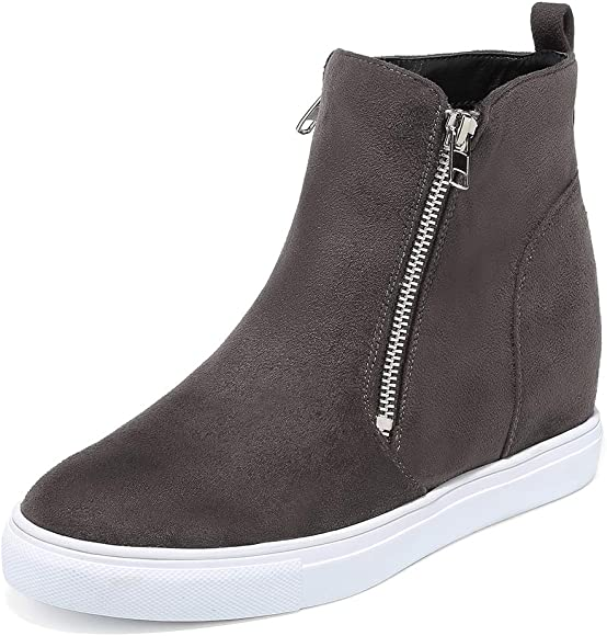 Fashion Sneaker Zipper Casual Shoes