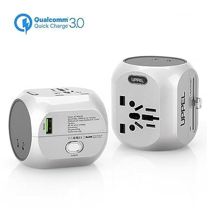 Amazon.com: Adaptador de viaje uppel Dual USB cargadores de ...