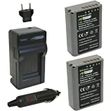 Wasabi Power KIT-BTR-BLN1-LCH-BLN1-01 Battery and Charger for Olympus BLN-1 (Gray)