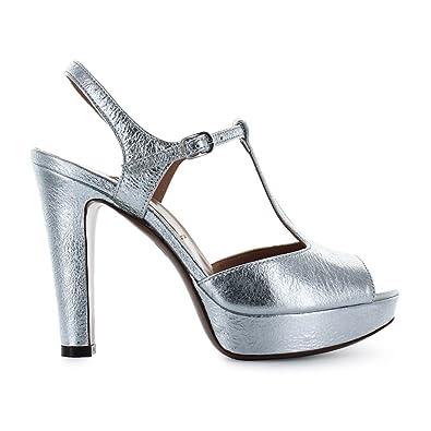 L Autre Chose Chaussures Femme Sandale Argenté Avec Plateau Printemps-Été  2018 33d8e330d147