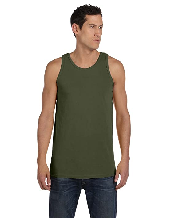67bfff50b7421a Authentic Pigment 5.6 oz. Pigment-Dyed Cotton Tank at Amazon Men s Clothing  store