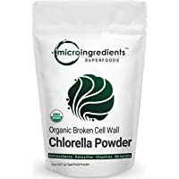 Organic Chlorella Powder 8 Ounce, Superfoods for Rich Vitamins, Proteins, Chlorophyll, Minerals, Amino Acids, Fatty Acids and Fiber, No Irradiated, No Contaminated, No GMOs and Vegan Friendly