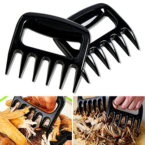 Meat Claws Set of 2 Barbecue Bear Paws Pulled Pork Shredder Claws Easily Lift, Handle, Shred, and Cut Meats BBQ Meat Forks by HorizonZ