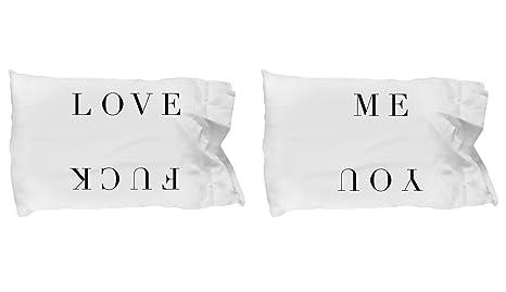 Amazon.com: Love Me Fuck You – Almohada Cover Set Pareja ...