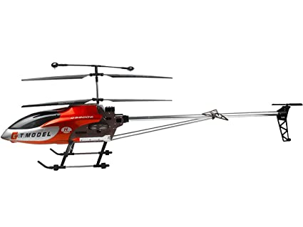 Sawan Shop 53 Inch Extra Large GT QS8006 2 Speed 3 5 Ch RC Helicopter  Builtin GYRO Red