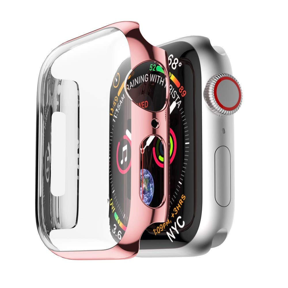 yuemizi Ultra Thin PC Plating Cases Protective Bumper Case Cover For Apple Watch 4 40mm 44mm (40mm, Rose Gold) by yuemizi (Image #2)