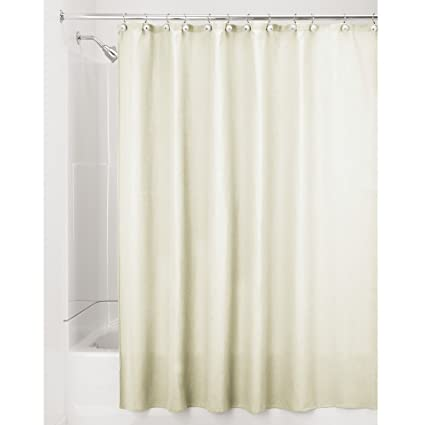 InterDesign York Hotel Fabric Cotton And Polyester Blend Shower Curtain X Long 72