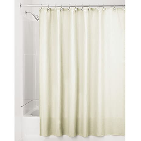 InterDesign York Hotel Fabric Cotton And Polyester Blend Shower Curtain Wide 108 X 72