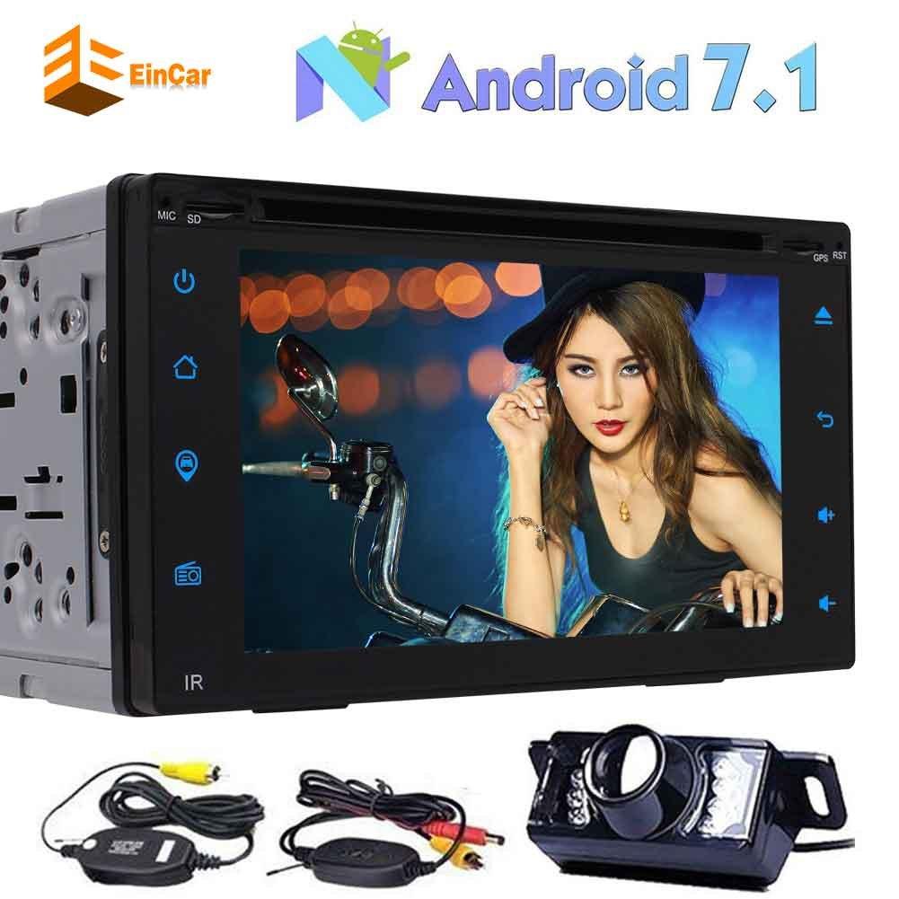 ワイヤレスバックアップカメラとダッシュのBluetooth FM AMラジオ受信機のサポートOBD2 MirrorlinkでGPSナビゲーションとのAndroid 7.1オクタコア6.2インチの容量性タッチスクリーン車のDVDプレーヤーでダブル2ディンカーステレオ B077TJBKWS