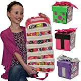 Series 1 Gift ems Dolls Blind Box 3X with Compatible EASYVIEW Pink Toy Organizer Case Bundle