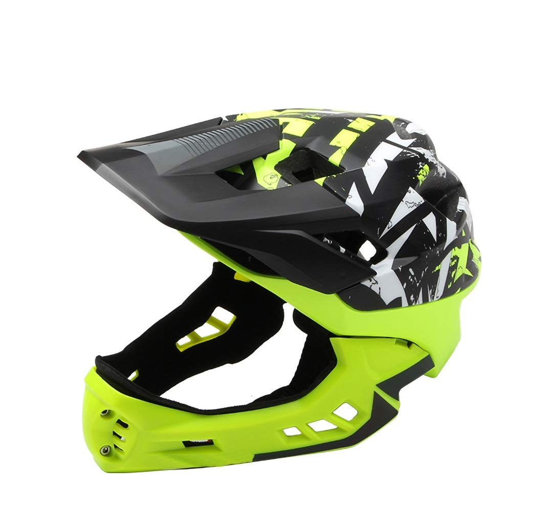 Bikyle Kids Helmet, Sport Helmet Protective Gear for Cycling Skating Skiing Adjustable for Children 5 to 12 Years Old (48-57CM) (Color : Green)