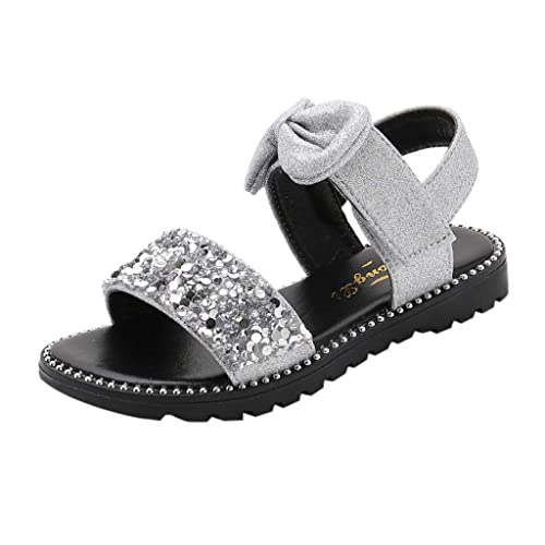 DE Mädchen Kinder Sommer Sandalen Urlaub lässig flache Strand Prinzessin Schuhe