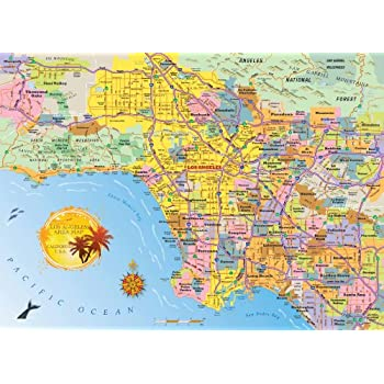 Los Angeles Area Map Jigsaw Puzzle 1000