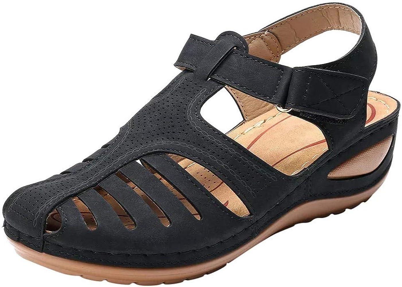 Women's Closed Toe Wedges Shoes Sandals