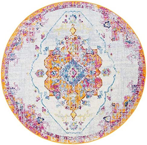Antep Rugs Elite Collection Bohemian Distressed DSG22 Indoor Area Rug Terra, 8 Round