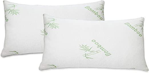 Amazon Com 2 Pack Bamboo Pillow Memory Foam Hypoallergenic Cool