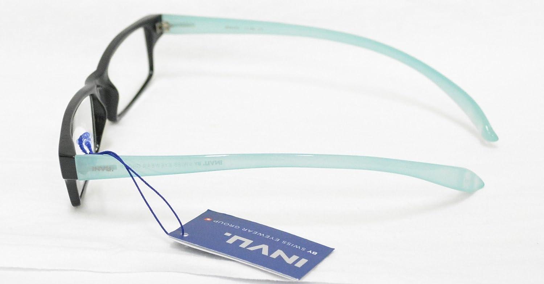INVU Occhiali per Lettura PREMONTATI B 6420 C 1.50 Nero Azzurro da Collo Reading Glasses