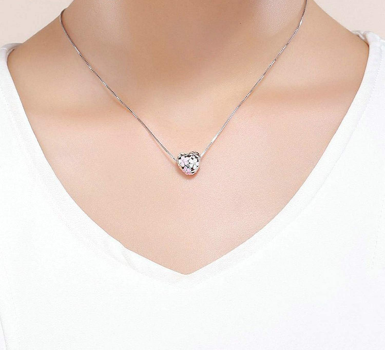 Evereena Silver Beads Bracelet for Girls Spring Pink White Daisy Flower Womens Jewelry