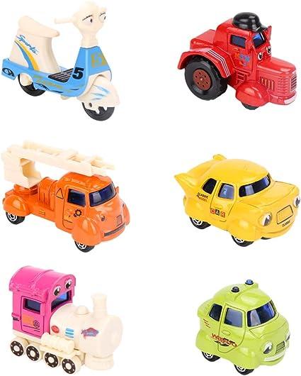 Plastic Pull Back Bike Bicycle Model School Nursery Kids Baby Educational Toys