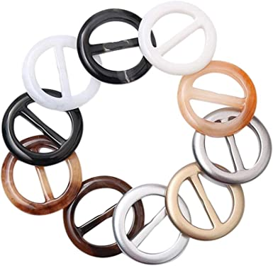 20pcs Party Tee Shirt Clips Simple Elegant Round T Shirt Wrap Holder Ring Clasp