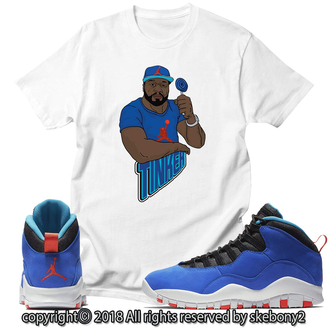 premium selection a5d2a 37435 Custom T Shirt Matching Style of Air Jordan 10 Huarache ...