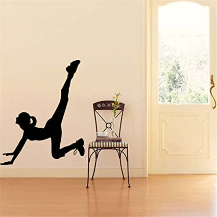 Amazon bibitime yoga studio gym wall decal gymnastic girl