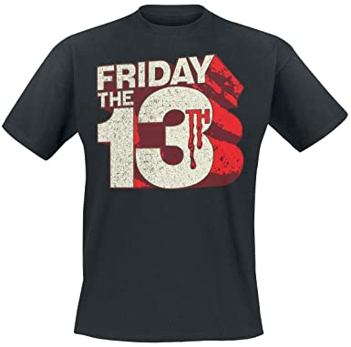 7d4820434 Friday The 13th Officially Licensed Merchandise Block Logo T-Shirt (Black)