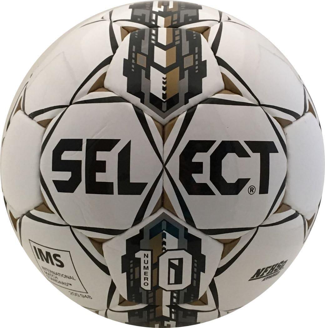 Select Numero 10 - Balón de fútbol, Color Blanco, Negro y Dorado ...